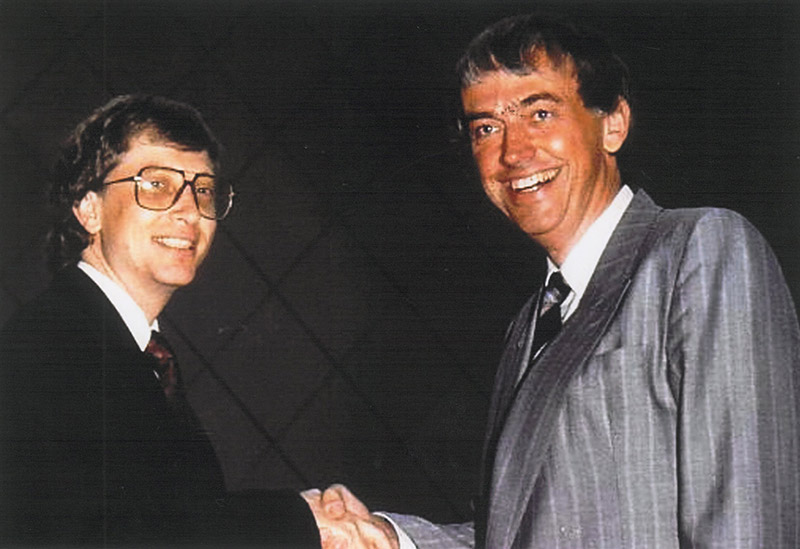 Bill Gates och Bert-Inge Hogsved